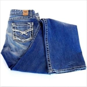 BKE Buckle Blue Jeans Womens 32x37 Stretch Bootcut
